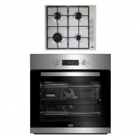 Beko CIF81X and CIHG21SX Built In Single Oven and Gas Hob Package