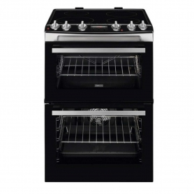 Zanussi 60cm Electric Double Oven with Induction Hob - Stainless Steel
