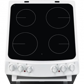 Zanussi 55cm Electric Double Oven with Ceramic Hob - White - A/A Rated - 3