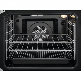 Zanussi 55cm Electric Double Oven with Ceramic Hob - White - A/A Rated - 2
