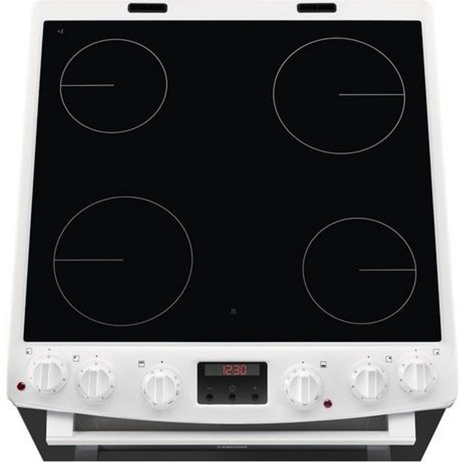 Zanussi 60cm Electric Double Oven with Ceramic Hob - White - A/A Rated - 3