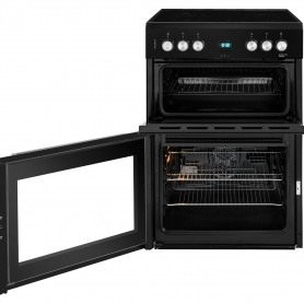 Beko 60cm Double Oven Electric Cooker with Ceramic Hob - Black - A/A Rated - 1