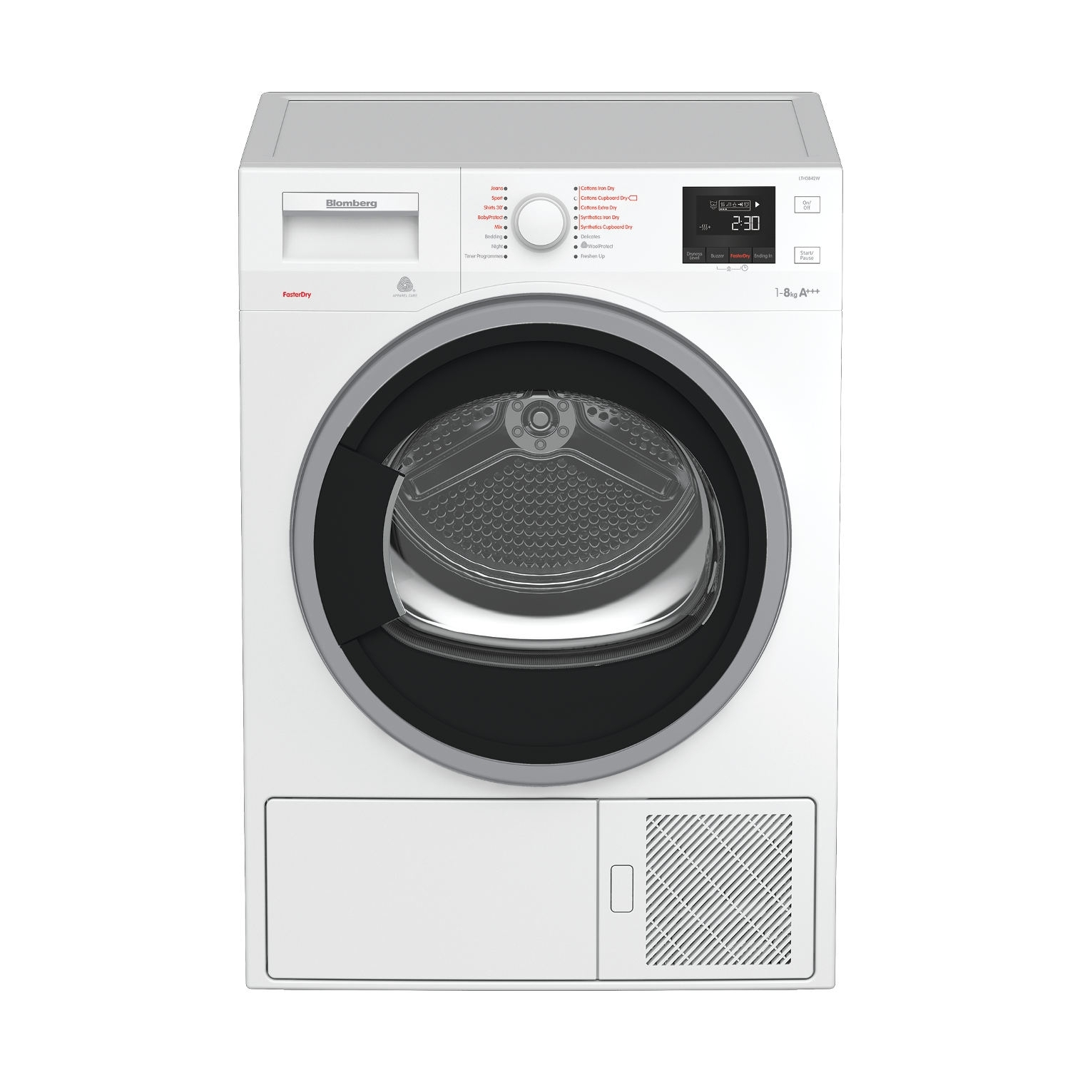 Blomberg LTH3842W 8kg Heat Pump Tumble Dryer - White - 5