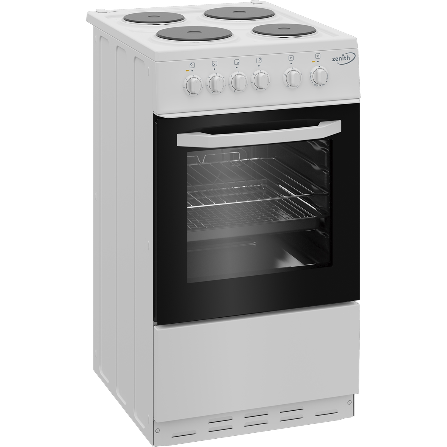 Zenith 50cm Single Oven Electric Cooker with solid plate - hob White- A Energy Rated - 4