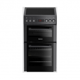 Blomberg 50cm Double Oven Electric Cooker with Ceramic Hob - Anthracite - A Energy Rated