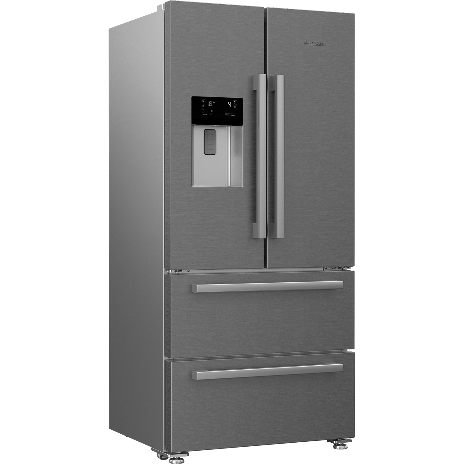 Blomberg Frost Free American Style Fridge Freezer - Stainless Steel - A+ Energy Rated - 2