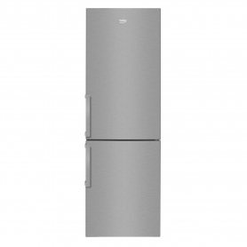 Beko Tall Static Fridge Freezer - Stainless Steel - A+ Energy Rated