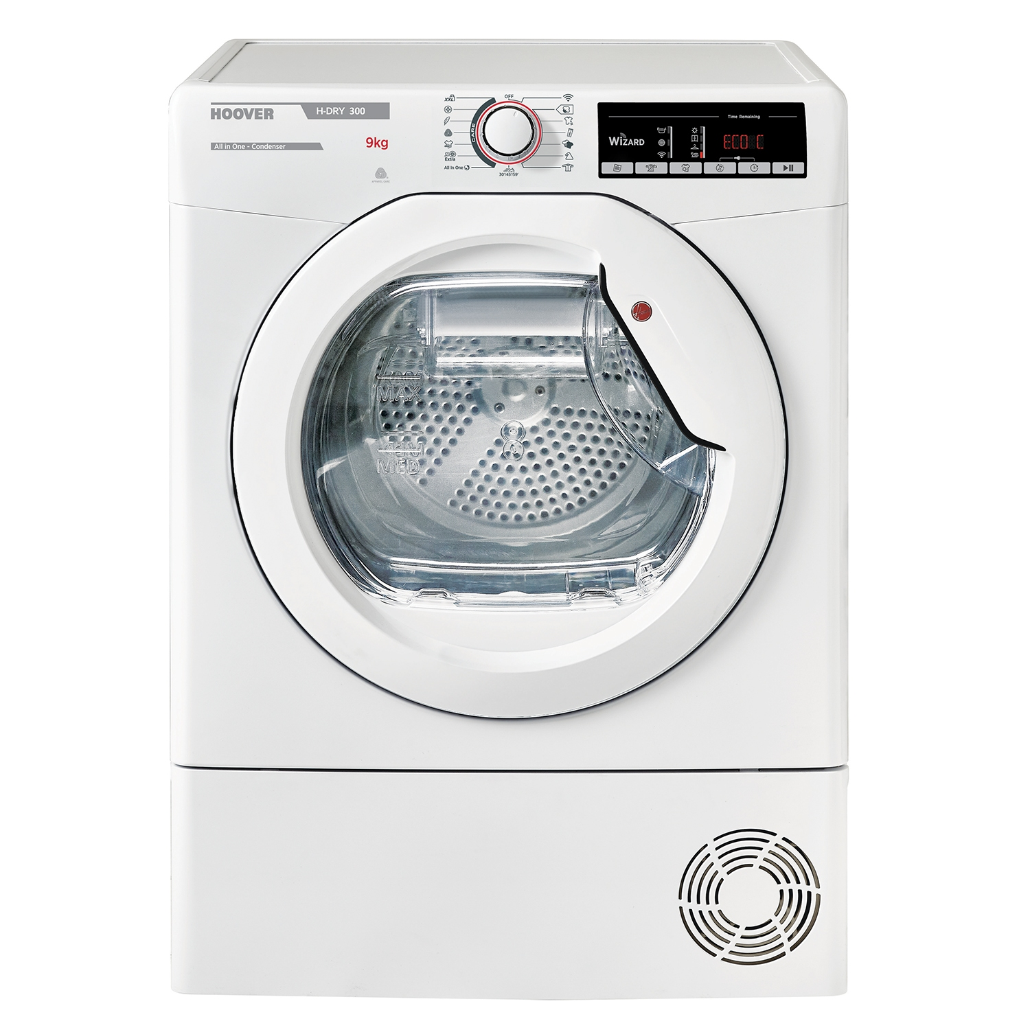 Hoover 9kg Condenser Tumble Dryer - White - B Energy Rated - 0
