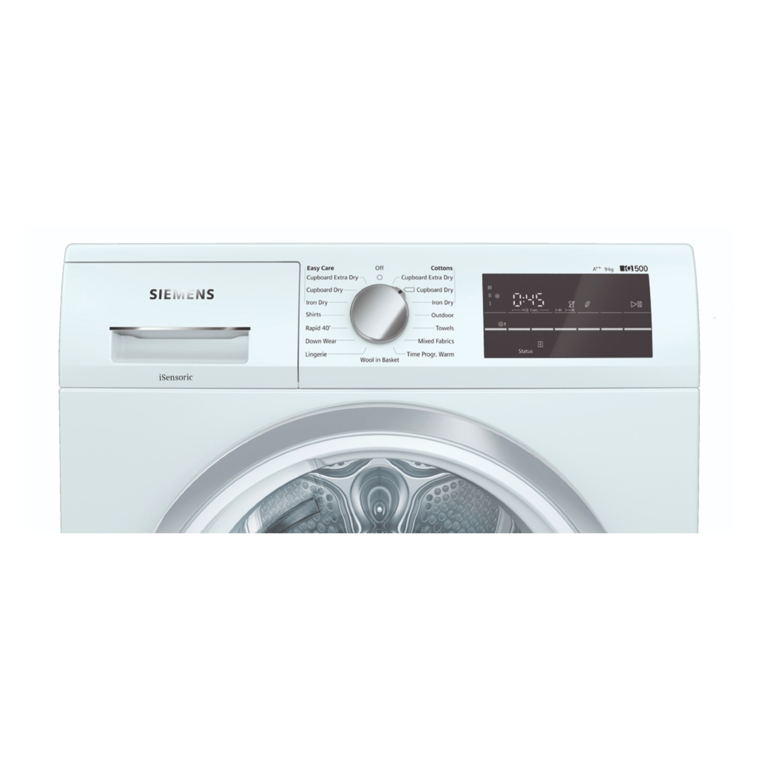 Siemens extraKlasse WT47RT90GB iQ500 9kg Heat Pump Tumble Dryer - White - 2