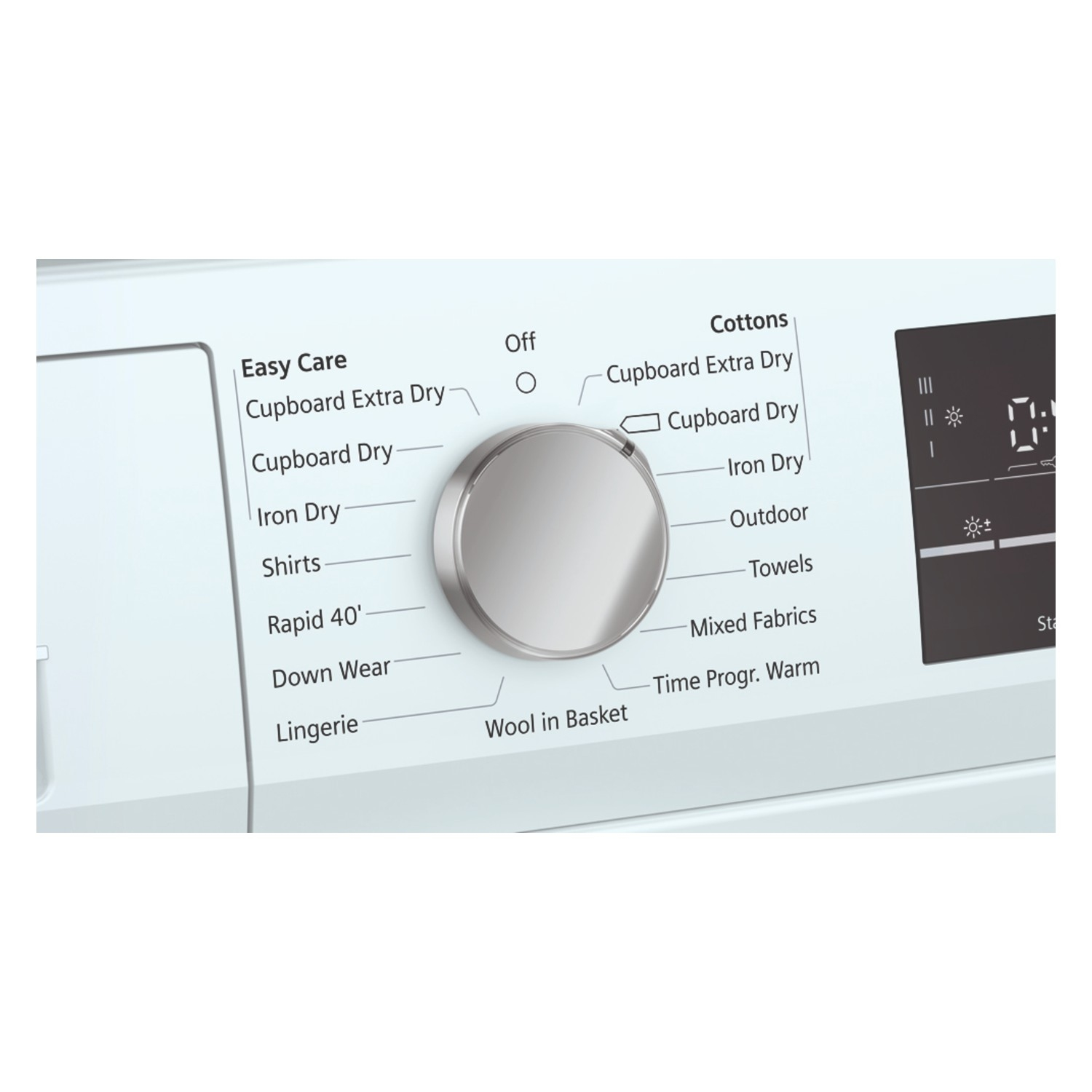 Siemens extraKlasse WT47RT90GB iQ500 9kg Heat Pump Tumble Dryer - White - 1