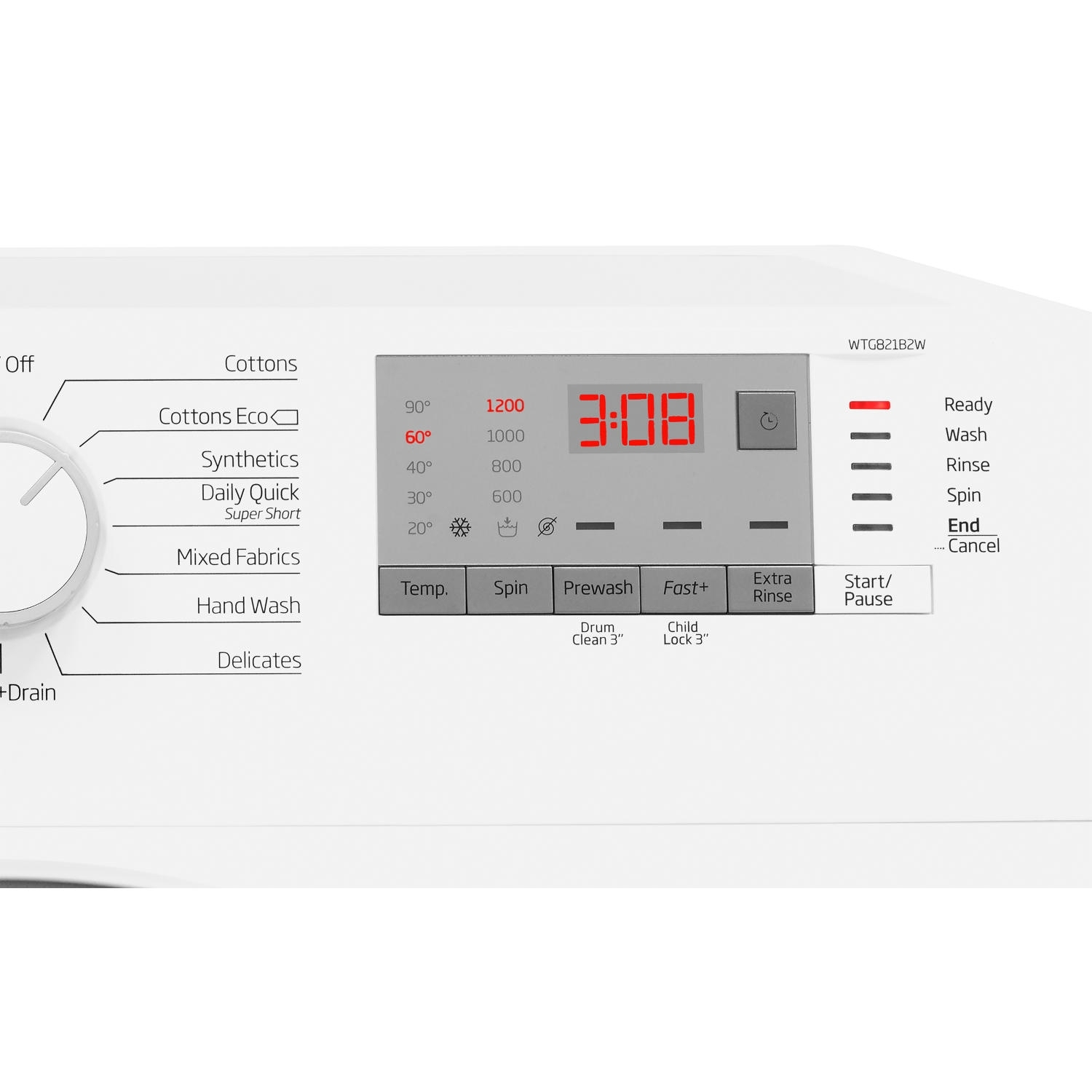 Beko 8kg 1200 Spin Washing Machine - White - A+++ Rated - 2