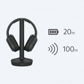 Sony MDRRF895RK Wireless Over Ear Headphones - Black