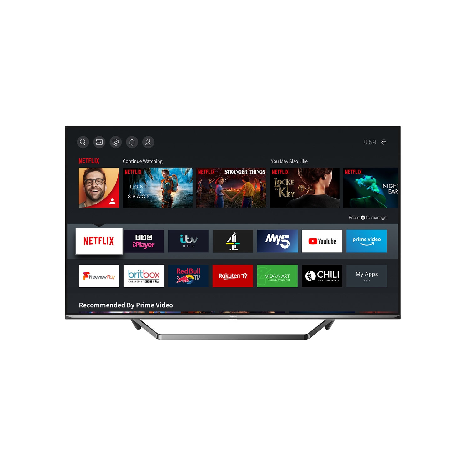"Hisense 50U7QFTUK 50"" 4K Ultra HD LED Smart TV with Dolby Atmos & Dolby Vision - 2"
