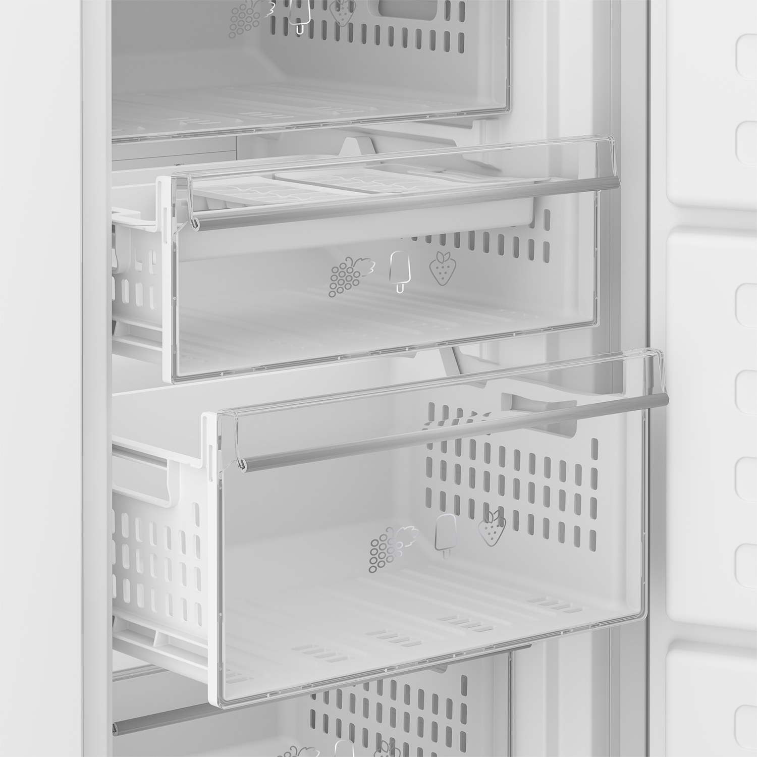 Blomberg 54cm Integrated Frost Free Tall Freezer - White - 2