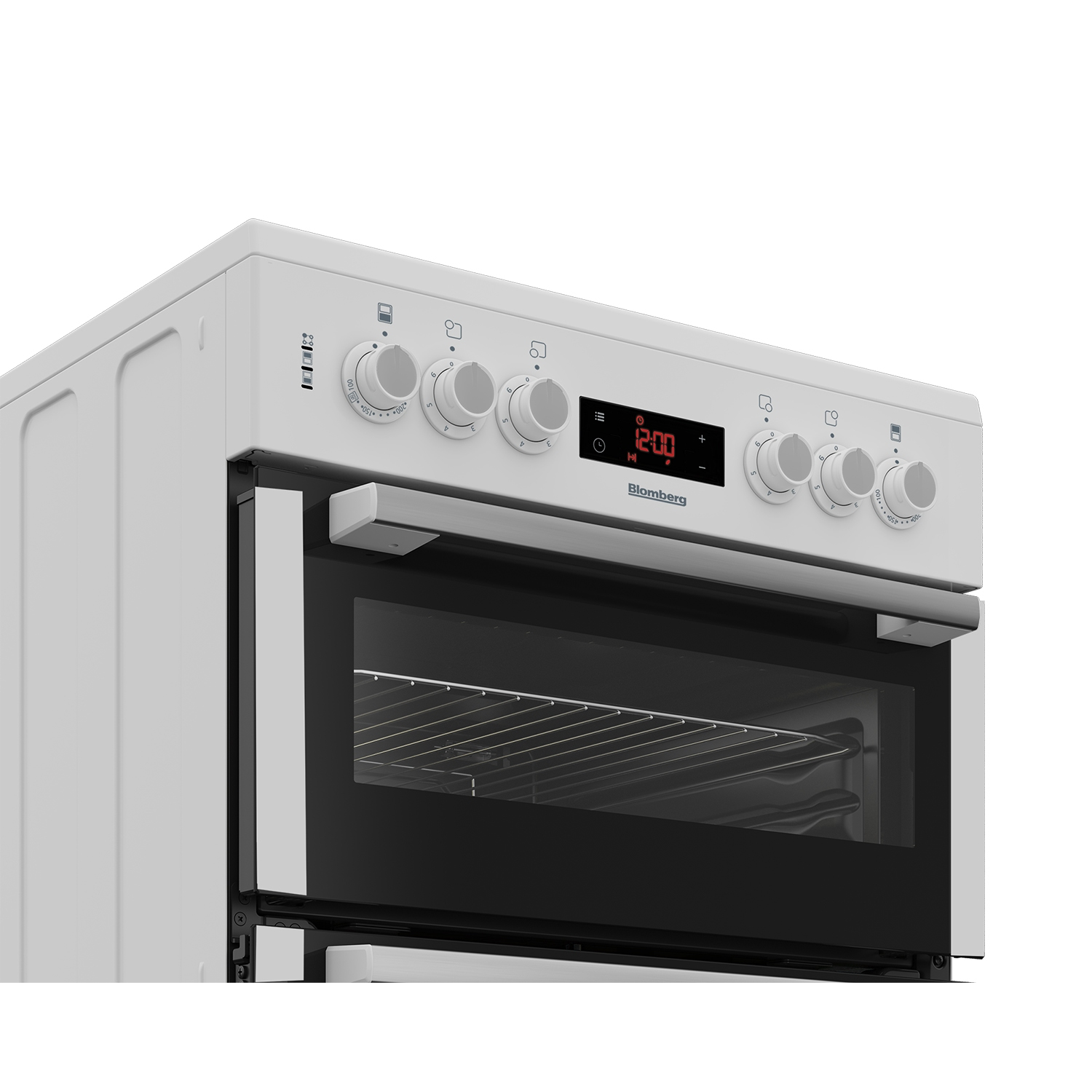 Blomberg 60cm Double Oven Electric Cooker with Ceramic Hob - White  - 1