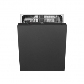 Smeg Integrated Full Size Dishwasher - Black Control Panel - 12 Place Settings