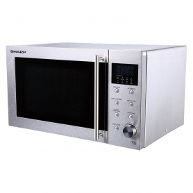 Sharp 23 Litre Solo Microwave - Stainless Steel