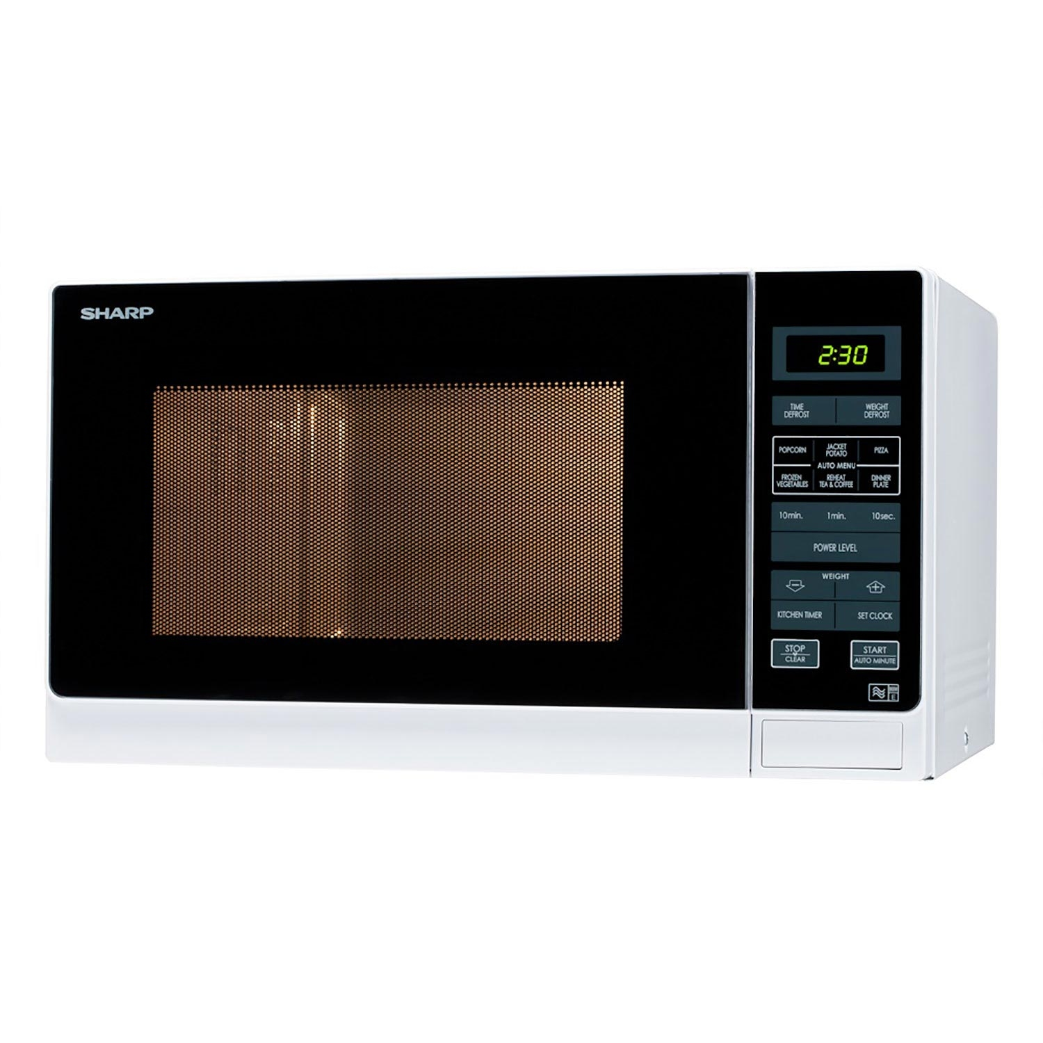 Sharp R372WM 25 Litre Solo Microwave - White - 0