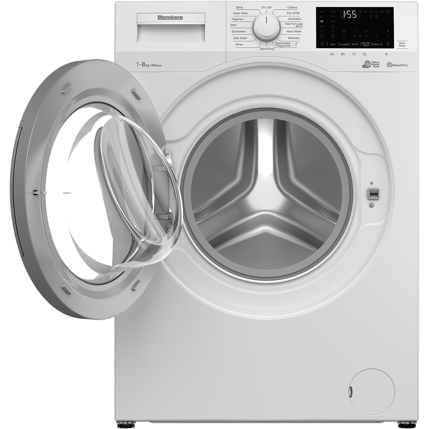 Blomberg LWF184410W 8kg 1400 Spin Washing Machine with Bluetooth Connection - White - 1