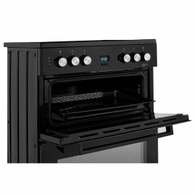 Beko 60cm Double Oven Electric Cooker with Ceramic Hob - Black - A/A Rated