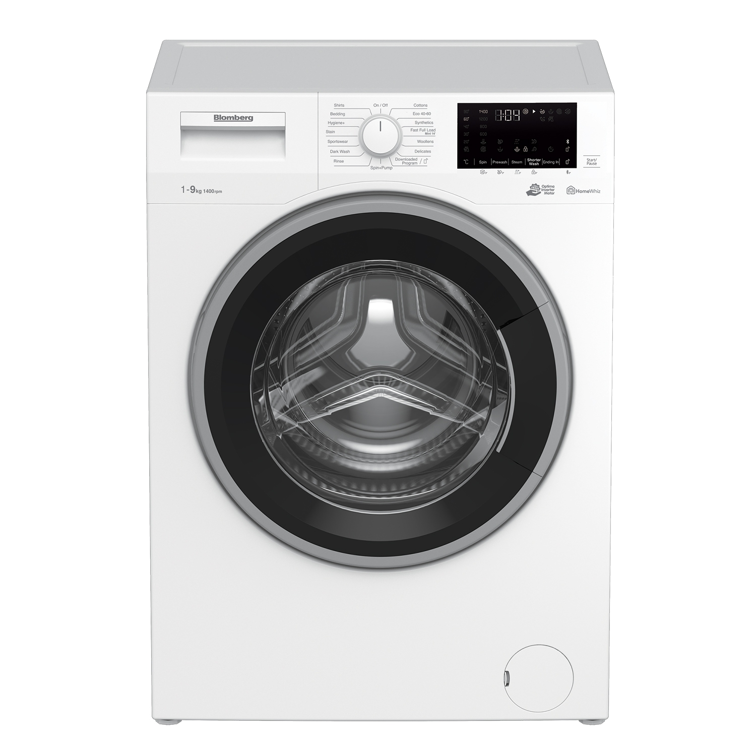 Blomberg LWF194410W 9kg 1400 Spin Washing Machine with Bluetooth Connection - White - 0