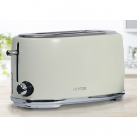 Linsar 4 Slice Toaster - Cream