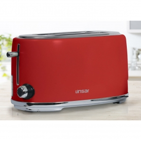 Linsar 4 Slice Toaster - Red