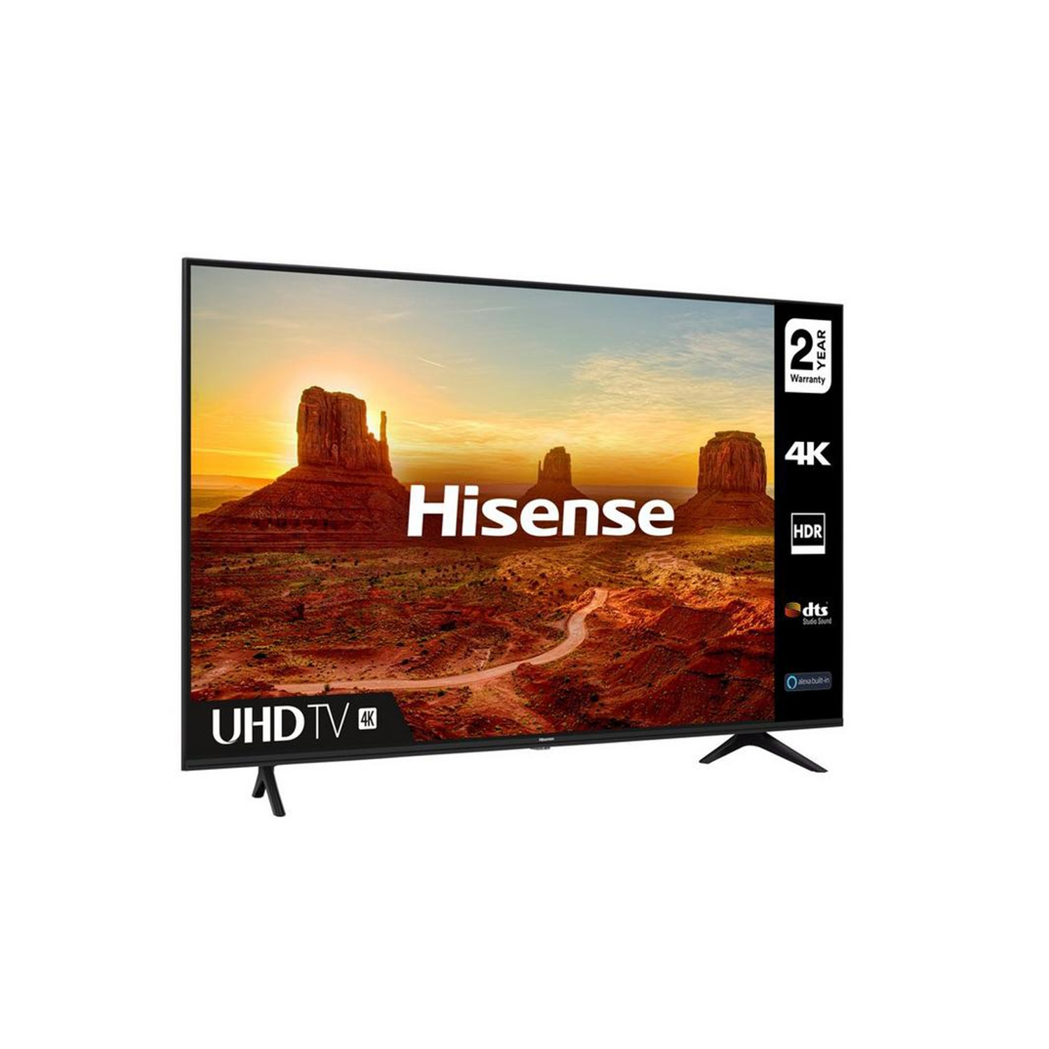 "Hisense 50"" 4K UHD Smart TV - A+ Energy Rated - 0"