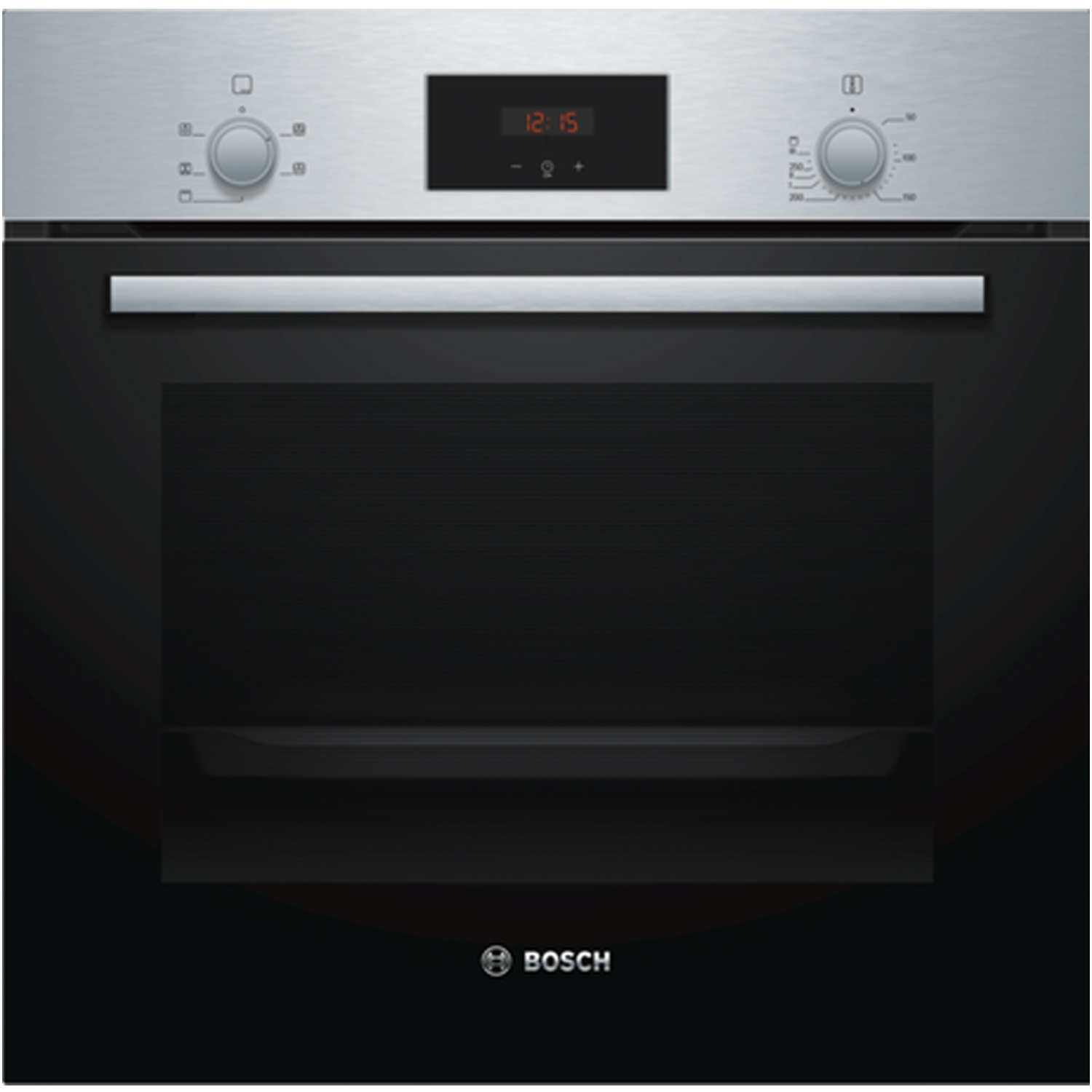 Bosch Serie 2 Built In Electric Single Oven with 3D Hot Air - Stainless Steel - A Rated - 0