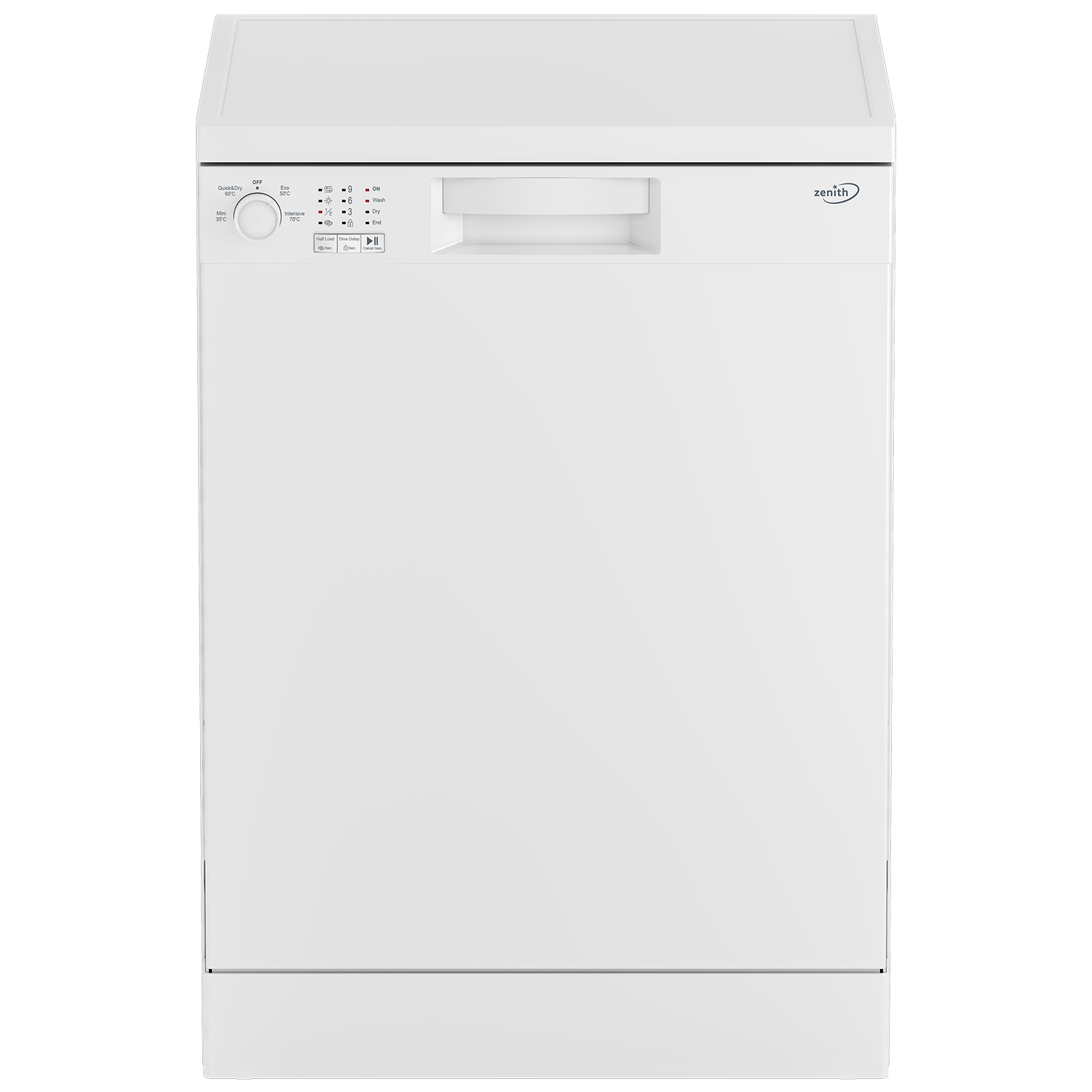 Zenith Full Size Dishwasher - White - A+ Energy Rated - 0