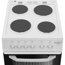 Zenith 50cm Single Oven Electric Cooker with solid plate - hob White- A Energy Rated - 2