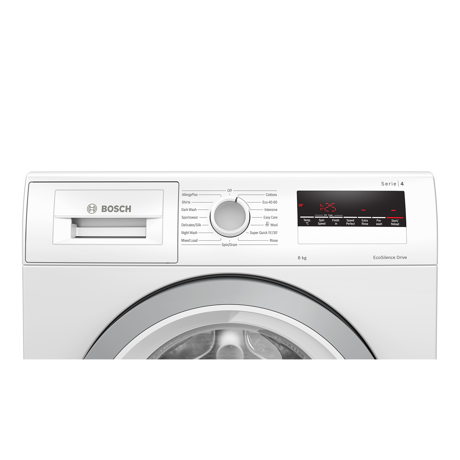 Bosch 8kg 1400 Spin Washing Machine - White - A+++ Rated - 1