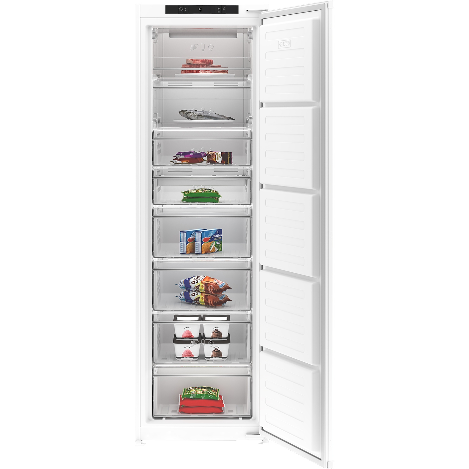 Blomberg 54cm Integrated Frost Free Tall Freezer - White - 0