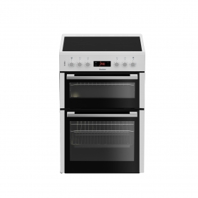 Blomberg 60cm Double Oven Electric Cooker with Ceramic Hob - White