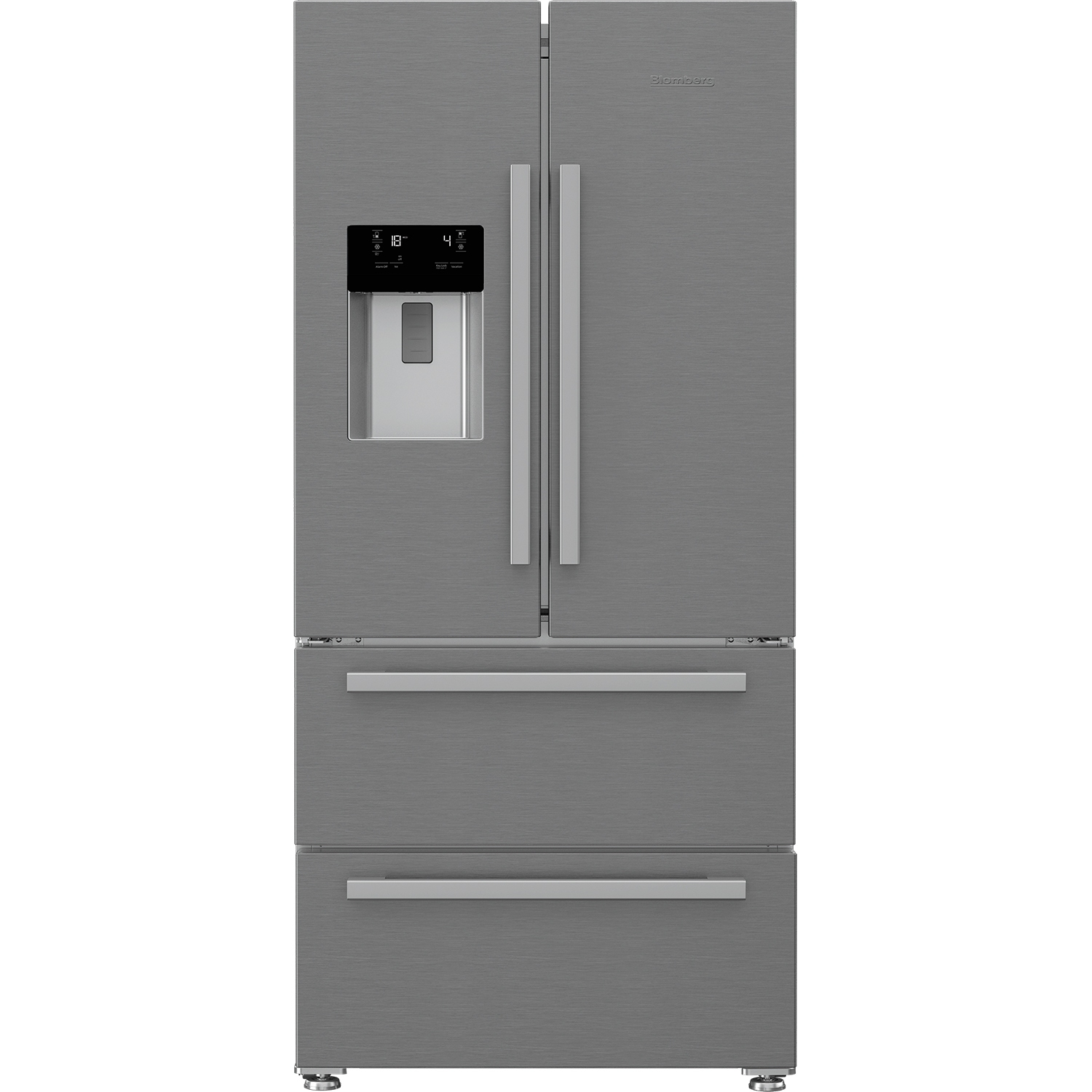 Blomberg Frost Free American Style Fridge Freezer - Stainless Steel - A+ Energy Rated - 0