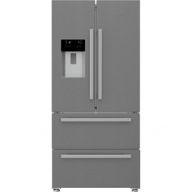 Blomberg Frost Free American Style Fridge Freezer - Stainless Steel - A+ Energy Rated