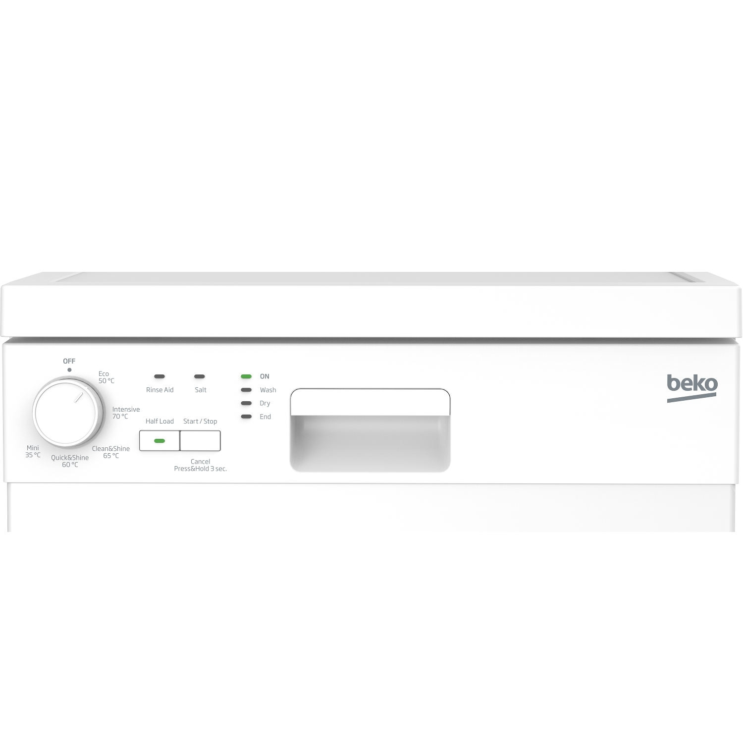 Beko Slimline Dishwasher - White - A+ Rated - 1