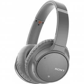 Sony Headphones Grey Noise Cancelling Over Ear With Mic Remote