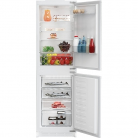 Zenith ZICSD355 Integrated Fridge Freezer - White - Static