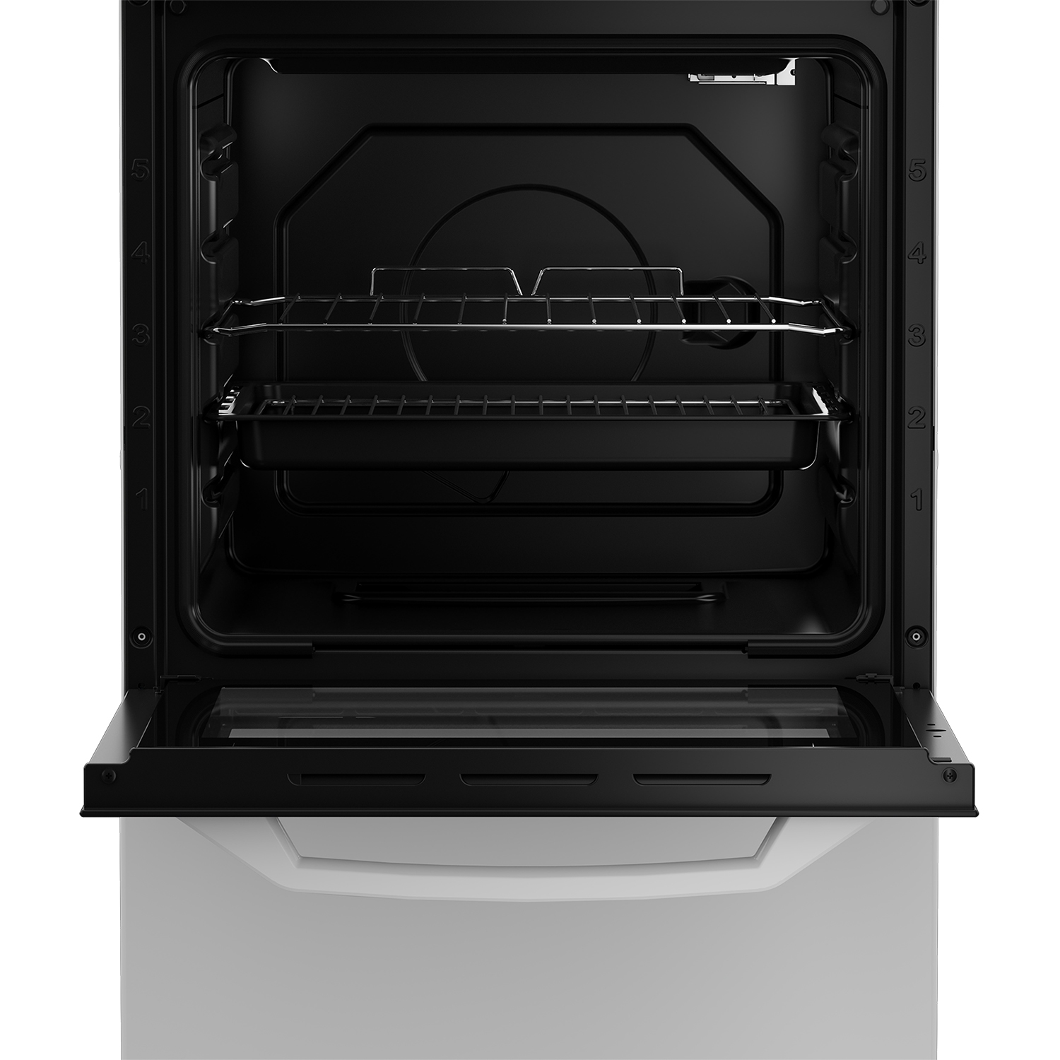 Zenith 50cm Single Oven Electric Cooker with solid plate - hob White- A Energy Rated - 1