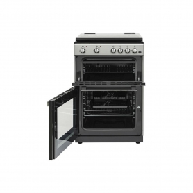 Belling 60cm Duel Fuel Cooker - Double Oven - Silver - AA Rated