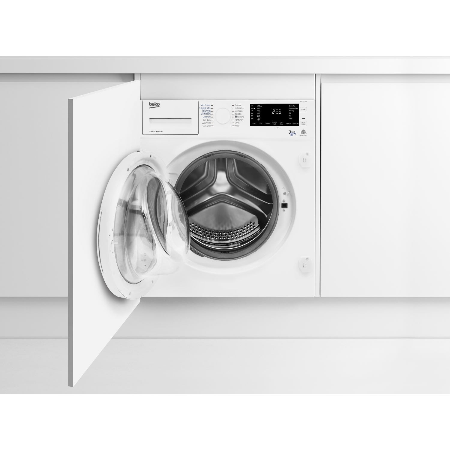 Beko Integrated 7kg/5kg 1200 Spin Washer Dryer - White - 0