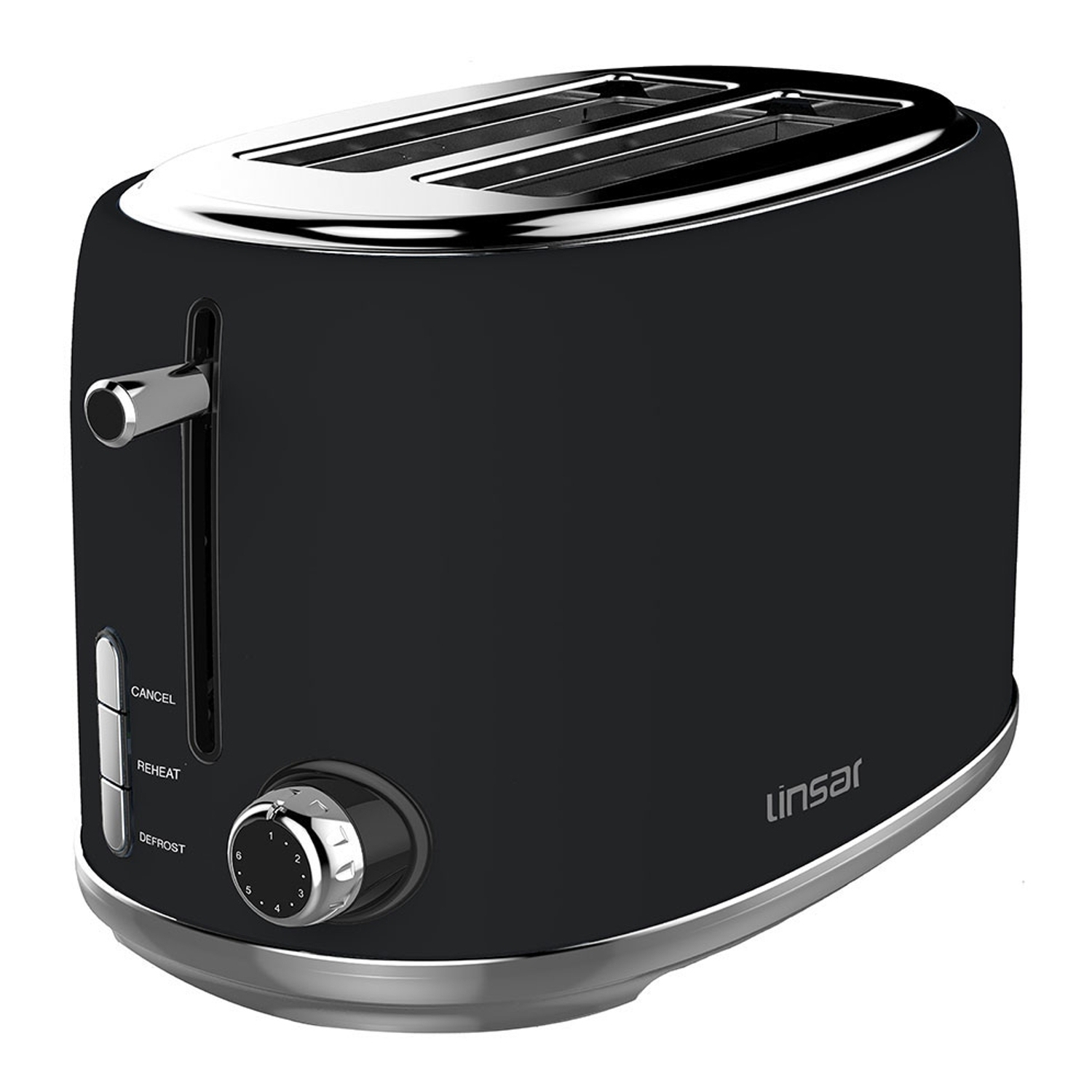 Linsar 2 Slice Toaster - Black - 0