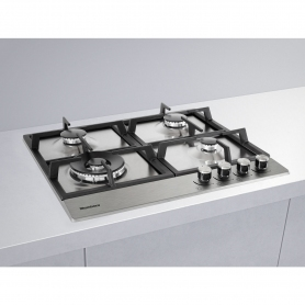 Blomberg 60cm Gas Hob with High Power Wok Burner - Stainless Steel