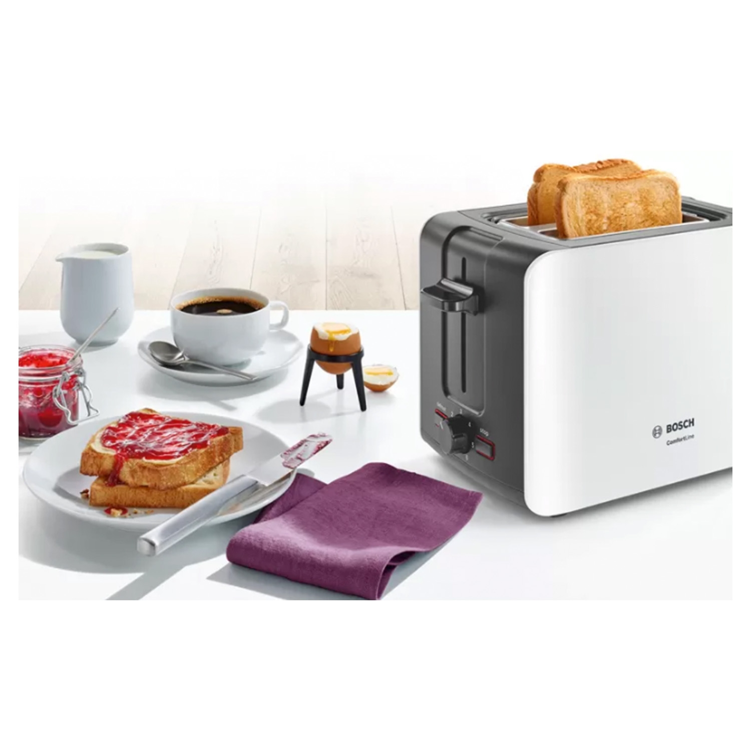 Bosch 2 Slice Toaster - White - 3