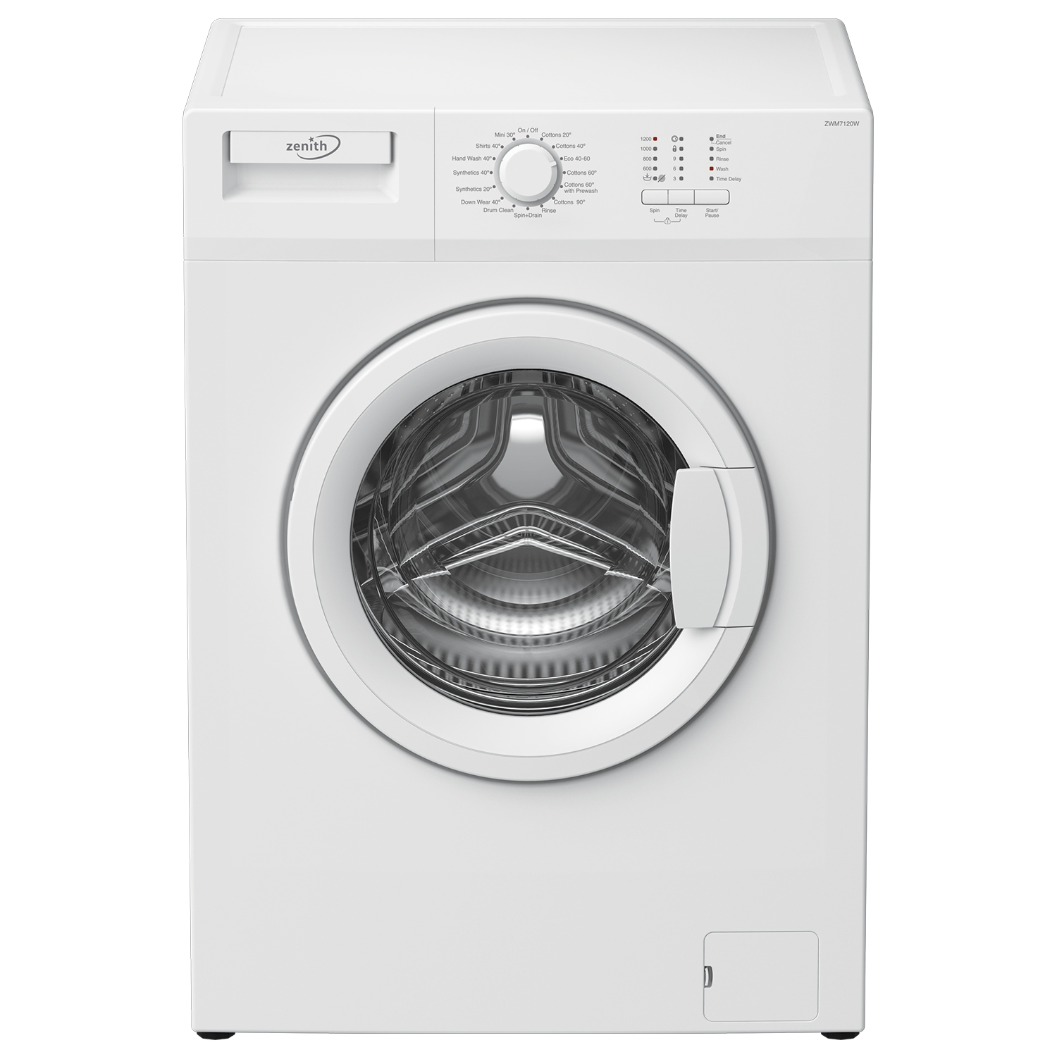 Zenith ZWM7120W 7kg 1200 Spin Slim Depth Washing Machine - White - 0