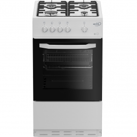 Zenith ZE501W 50cm Single Oven Gas Cooker with Gas Hob - White