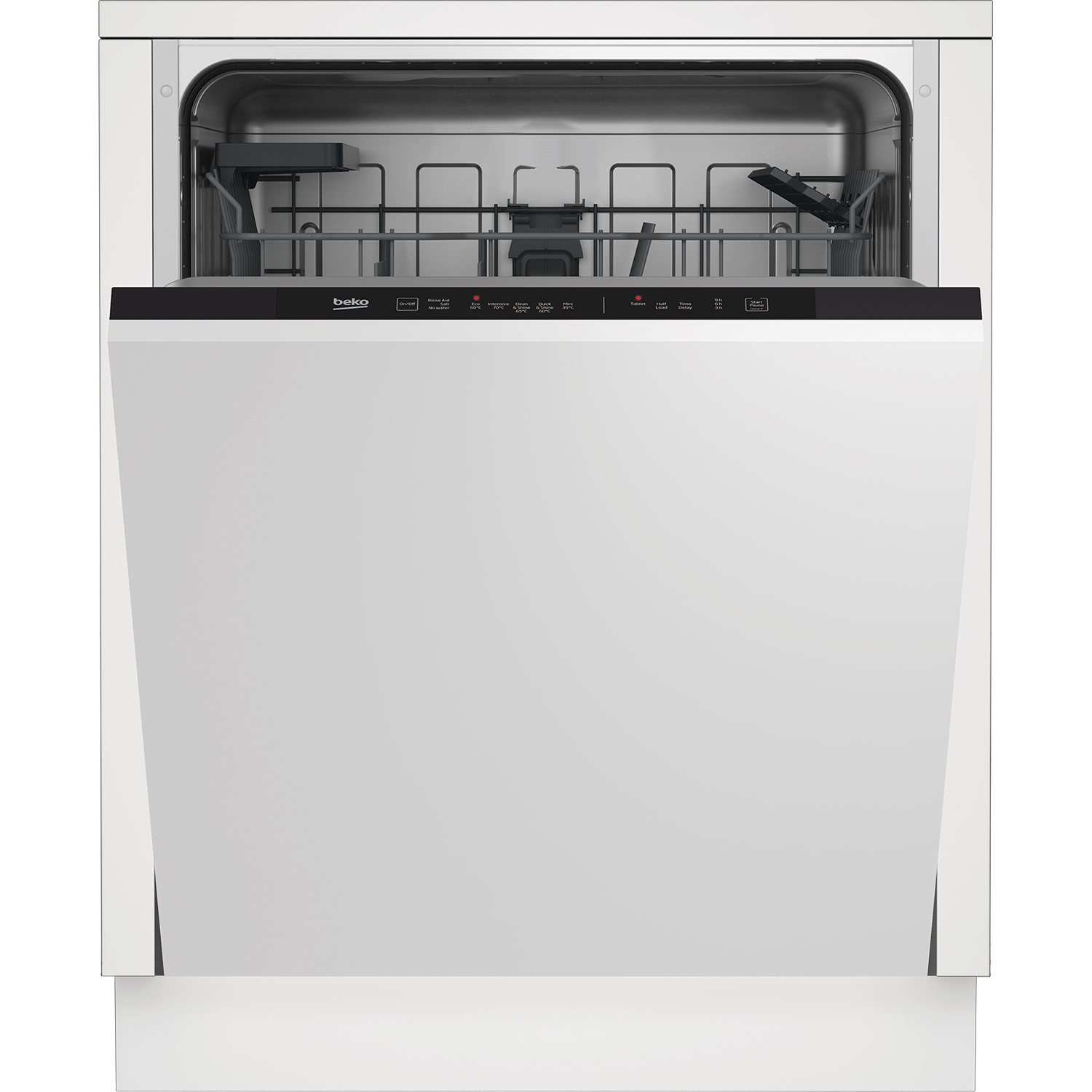 Beko Integrated Dishwasher - Stainless Steel - 14 Place Settings - 0