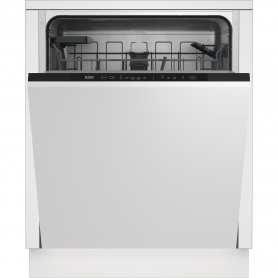 Beko DIN15C20 Integrated Full Size Dishwasher - 14 Place Settings
