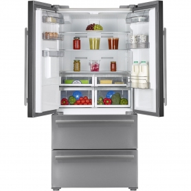 Blomberg Frost Free American Style Fridge Freezer - Stainless Steel - A+ Rated - 2